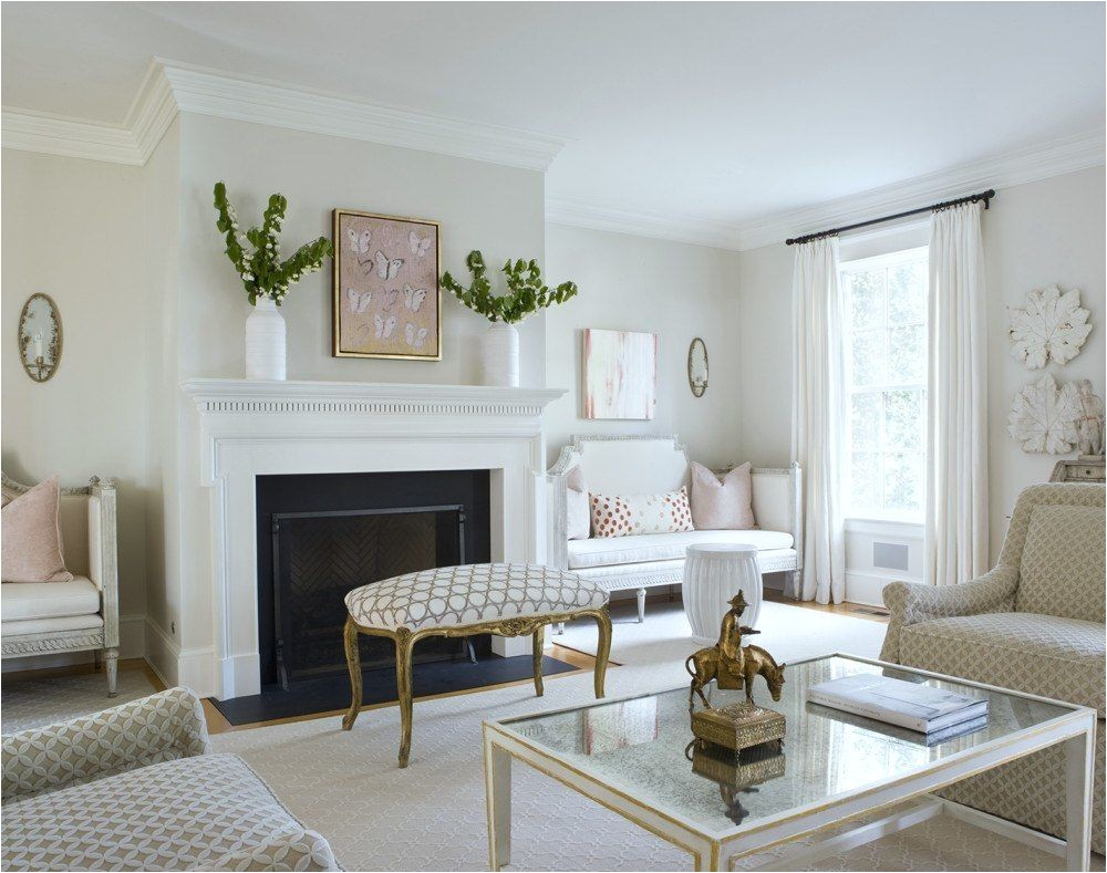 nine fabulous benjamin moore warm gray paint colors laurel home fresh classic living room by ivy lane love the gustavian settees and pale soothing