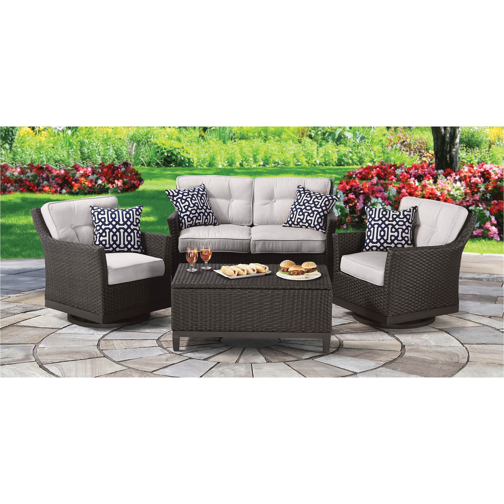 Berkley Jensen Patio Set Berkley Jensen Antigua 4 Pc Wicker Deep Seating Set Bj