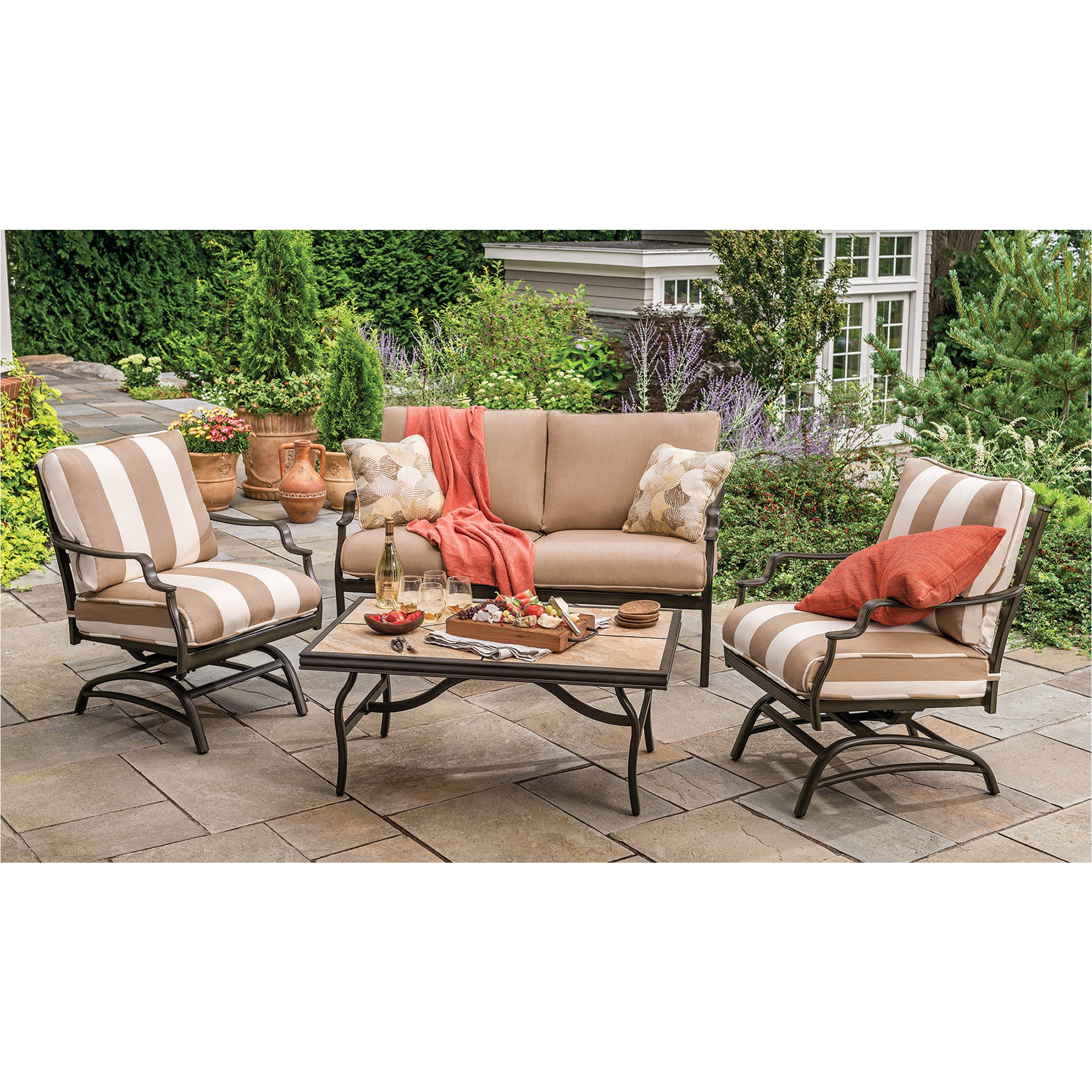 berkley jensen trevi 4 pc deep seating patio set product 282443