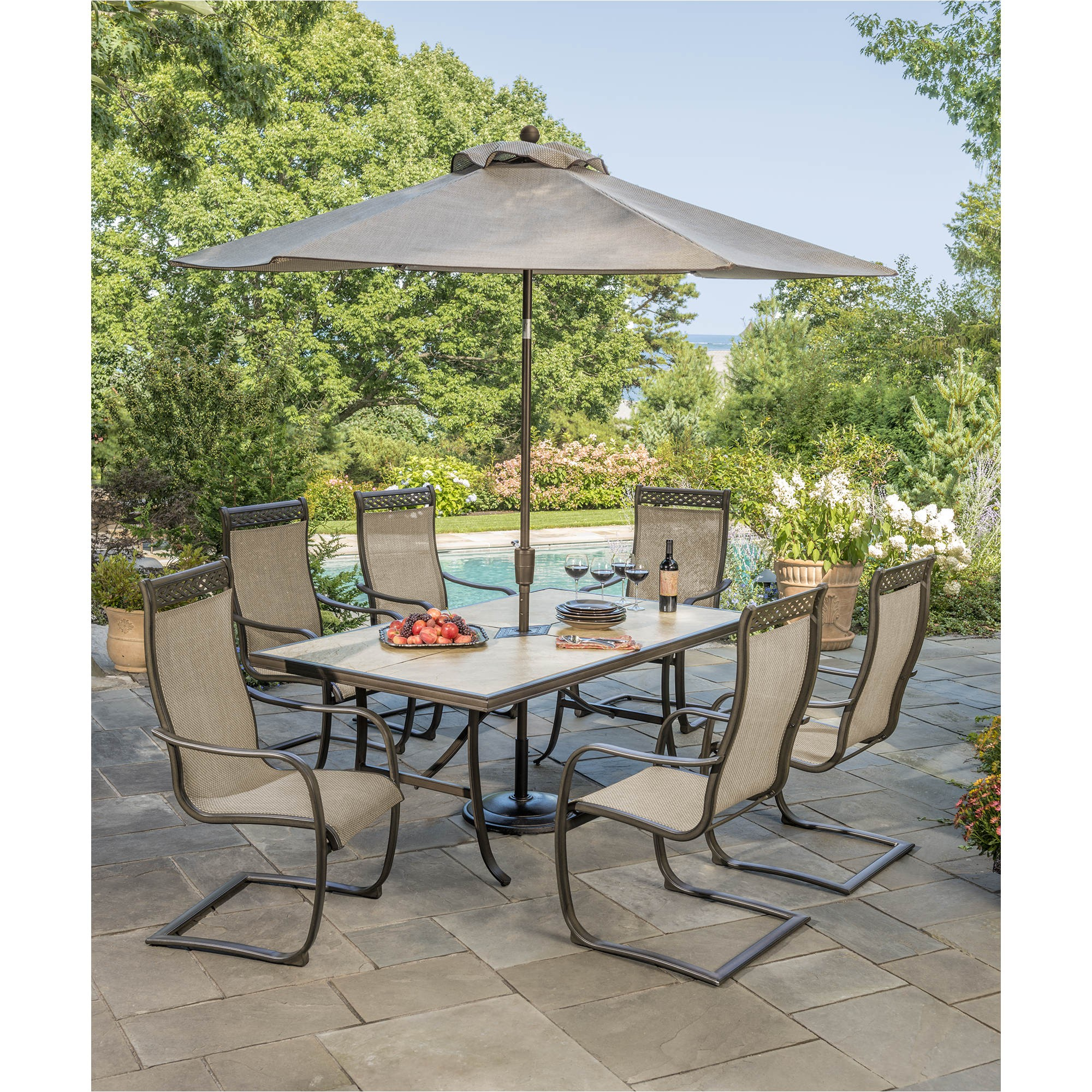 berkley jensen trevi 7 pc patio set product 282049