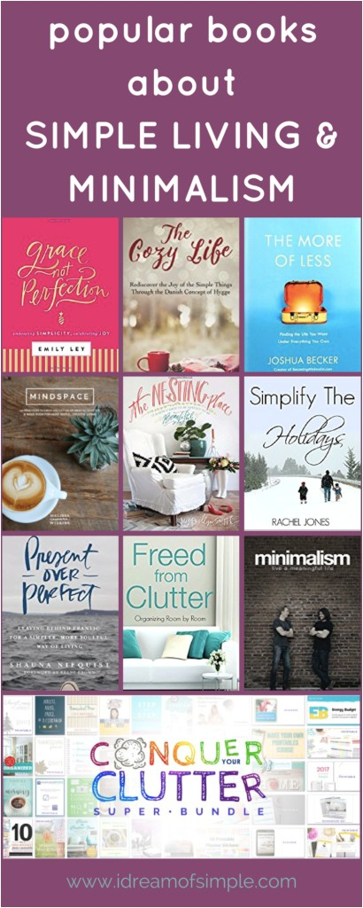 books to inspire simple living and minimalism