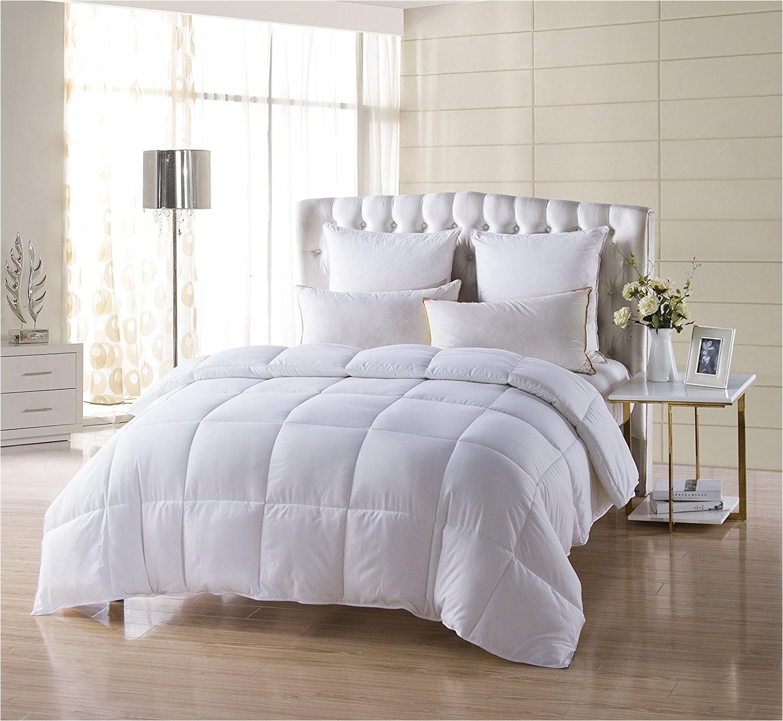 kinglinen white down alternative comforter duvet insert