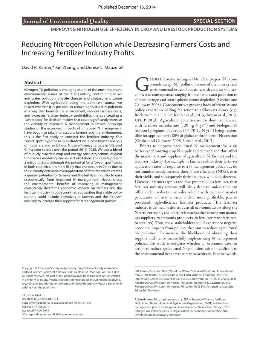 pdf costs and benefits of nitrogen in the environment chapter 22