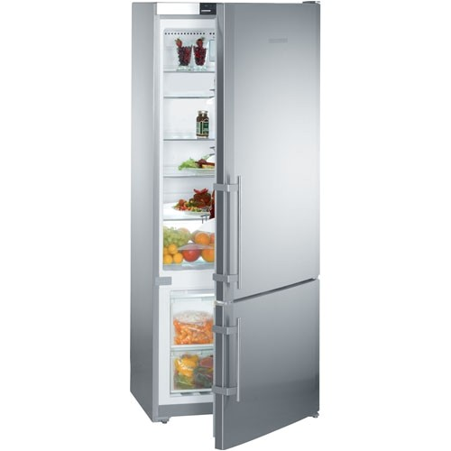 liebherr counter depth stainless steel 30 bottom freezer refrigerator cs1400
