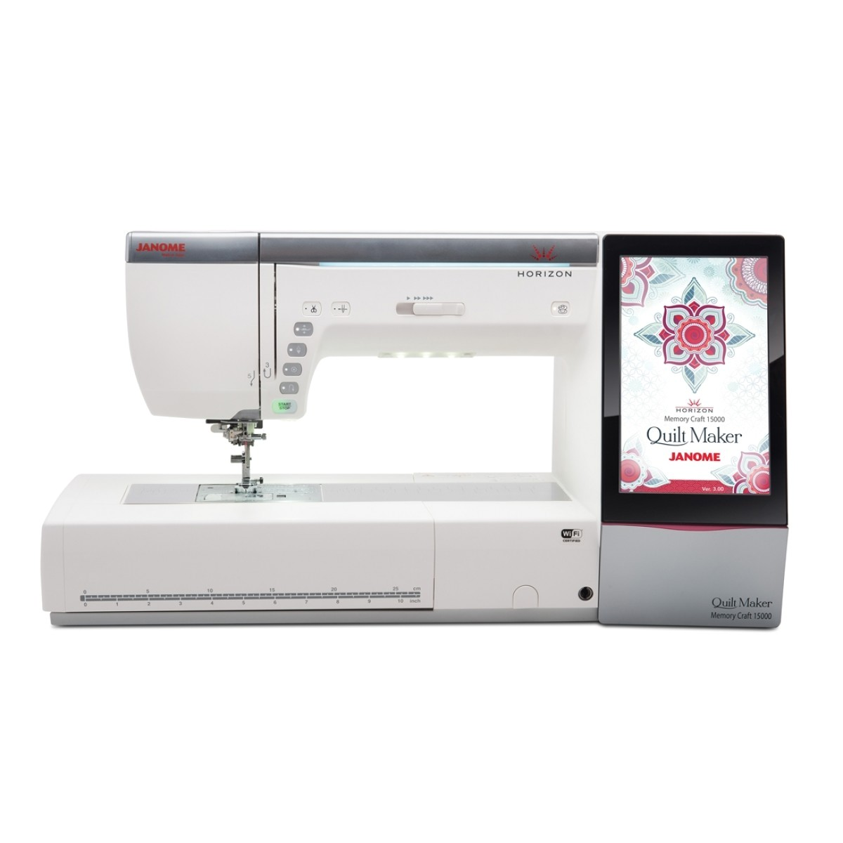 janome horizon quilt maker memory craft 15000 sewing quilting embroidery machine