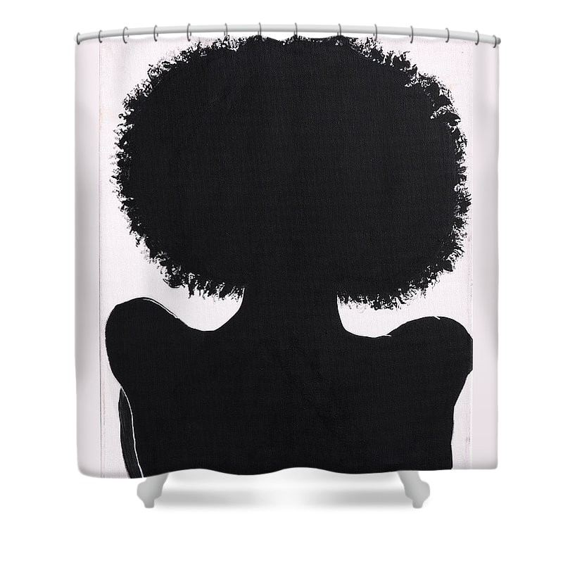 black girl magic art x shower curtain