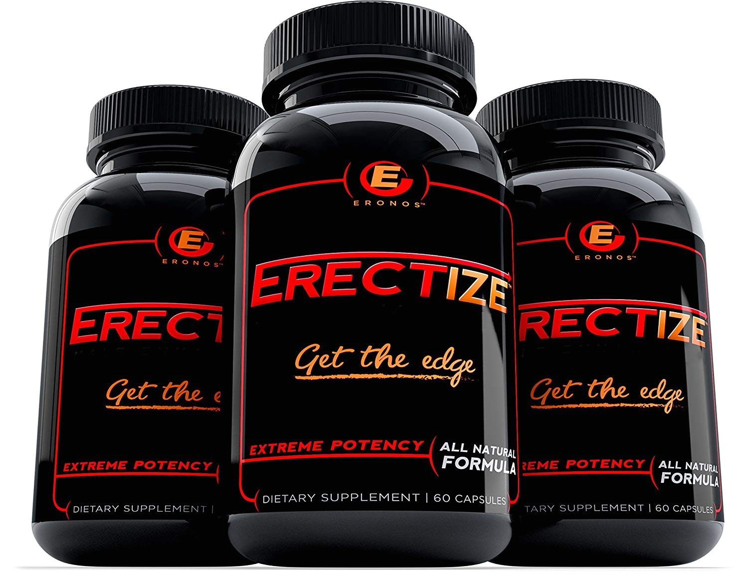 amazon com erectize male enhancement get the edge extreme male formula testosterone booster libido stamina 60 capsules by eronos health personal