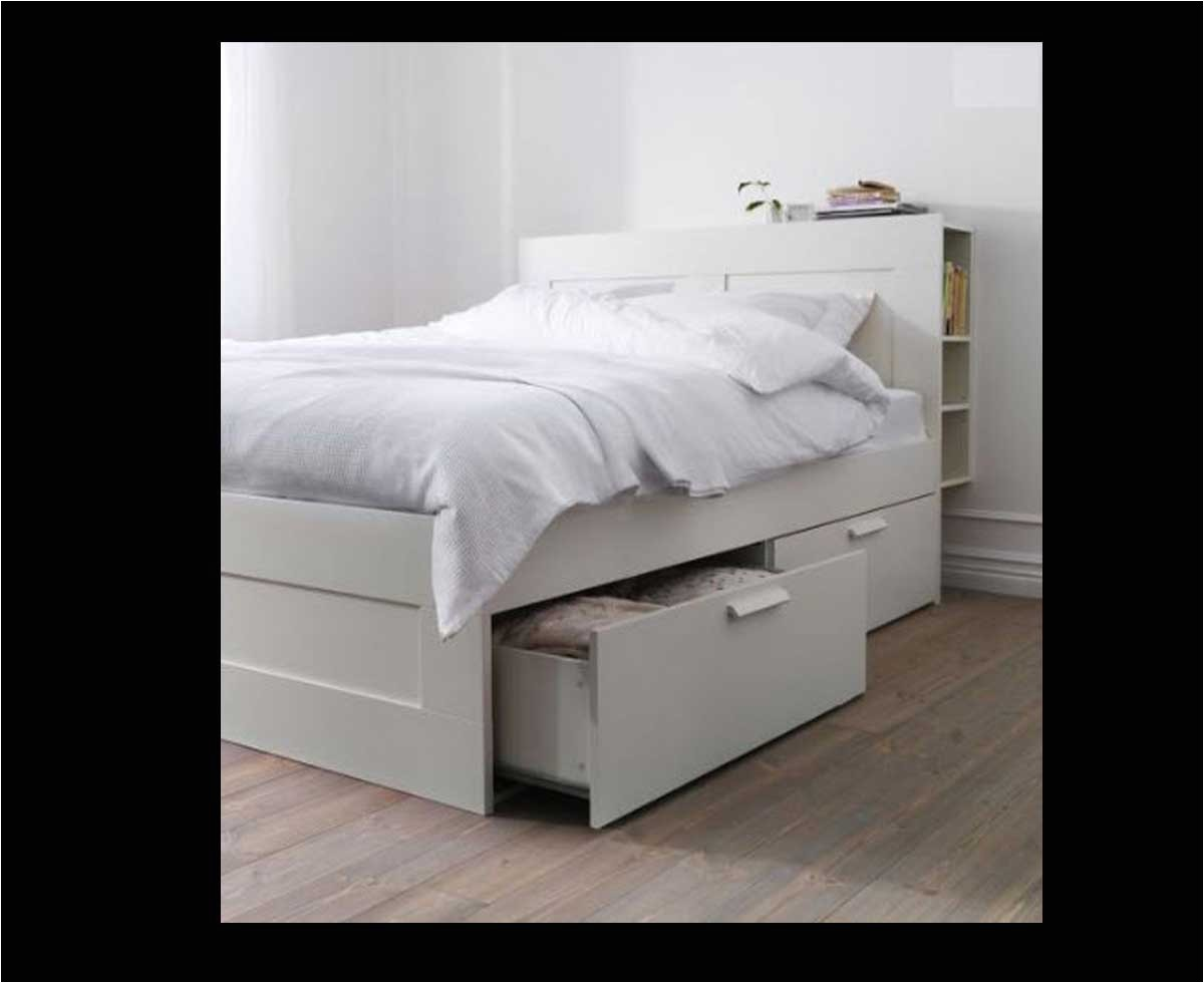 Brimnes Bed Frame With Storage Headboard Adinaporter