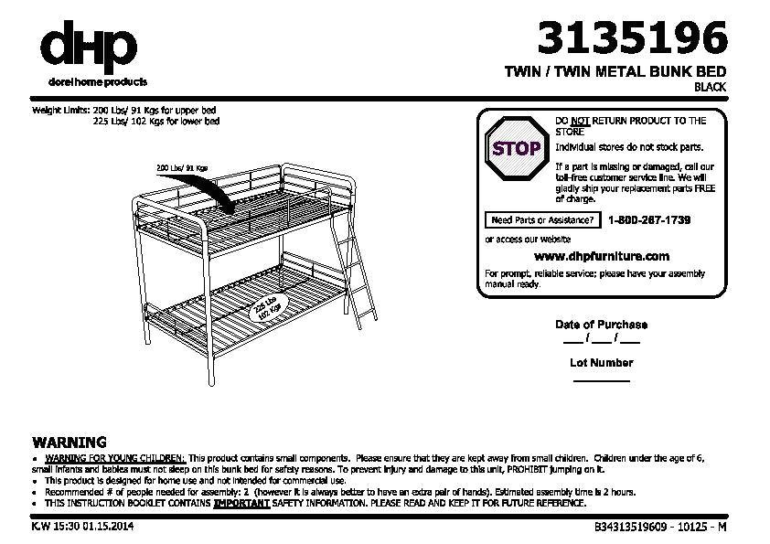 Bunk Bed Assembly Instructions Pdf Adinaporter
