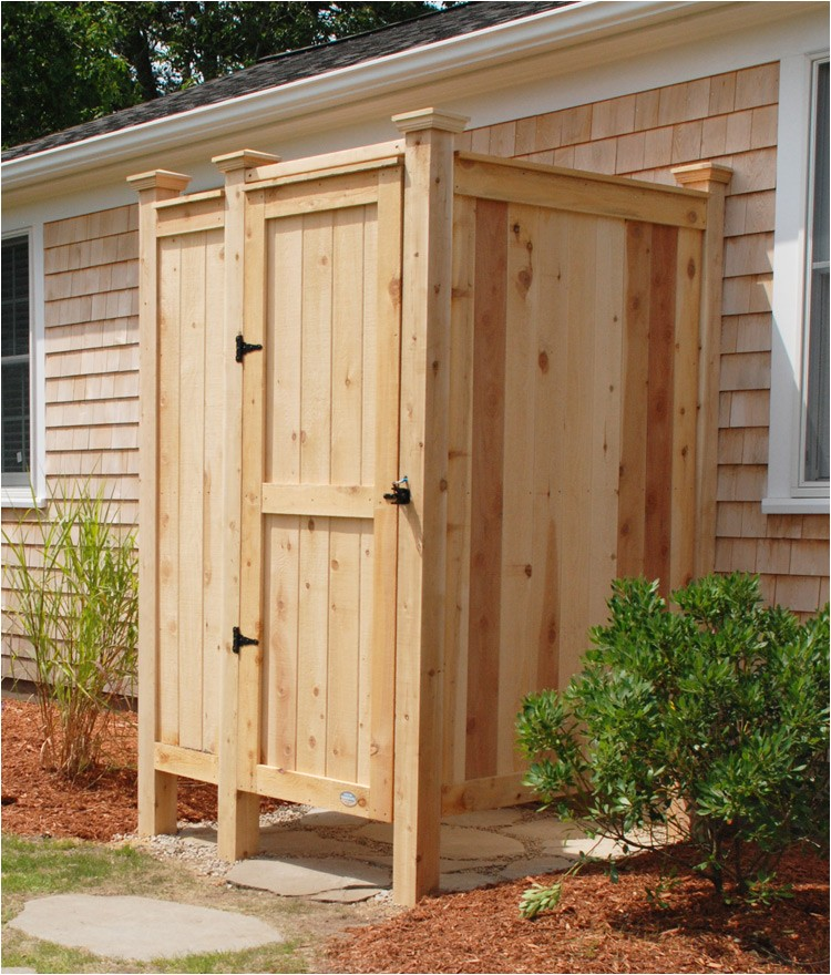 outdoor shower enclosure cedar hm