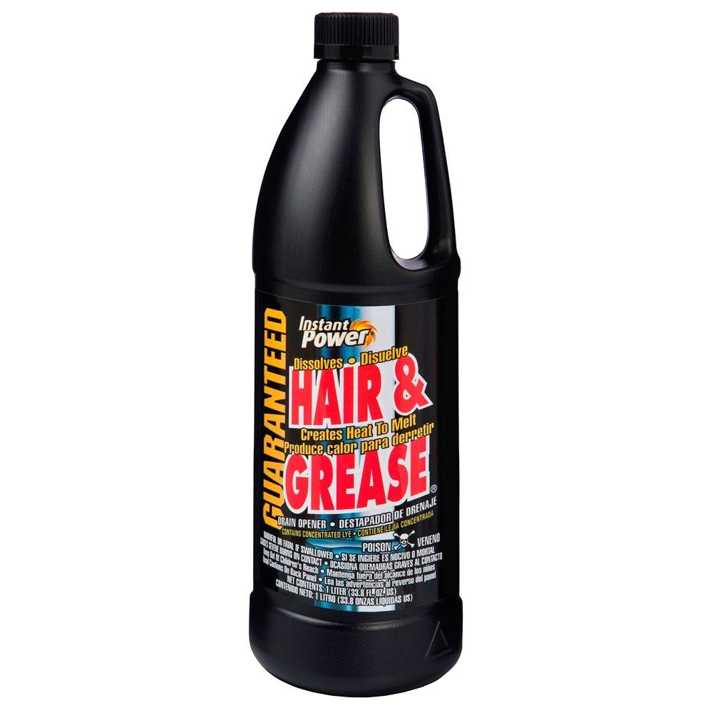 instant power 33 8 oz hair and grease drain opener