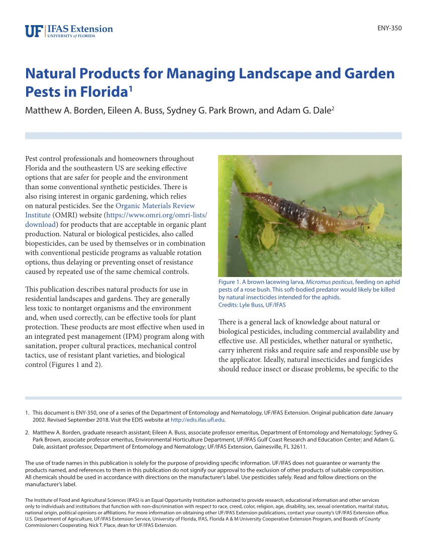 pdf natural products for managing landscape and garden pests in florida
