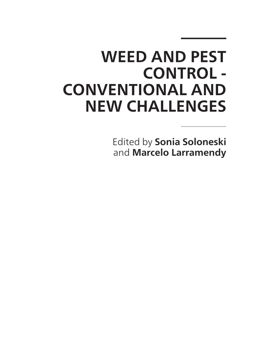 pdf weed and pest control conventional and new challenges