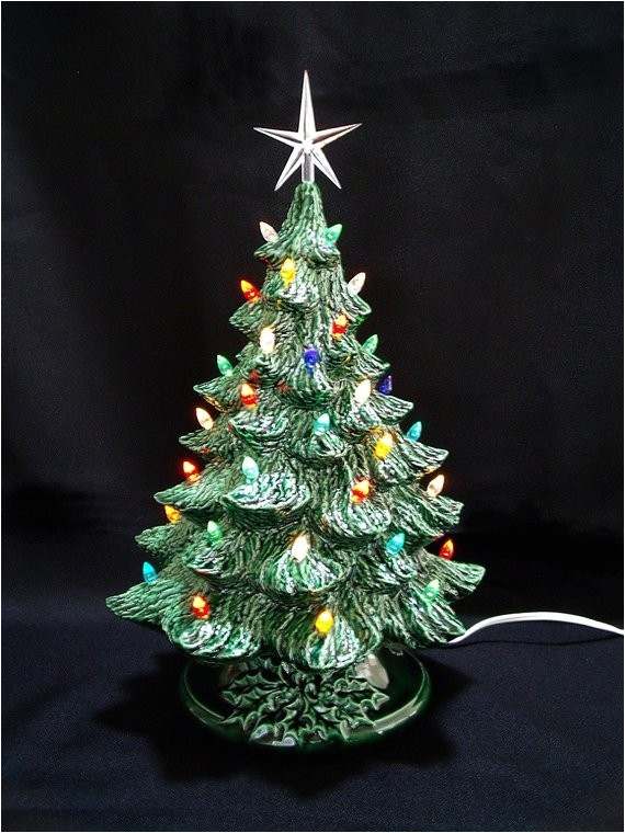 vintage style ceramic christmas tree 16