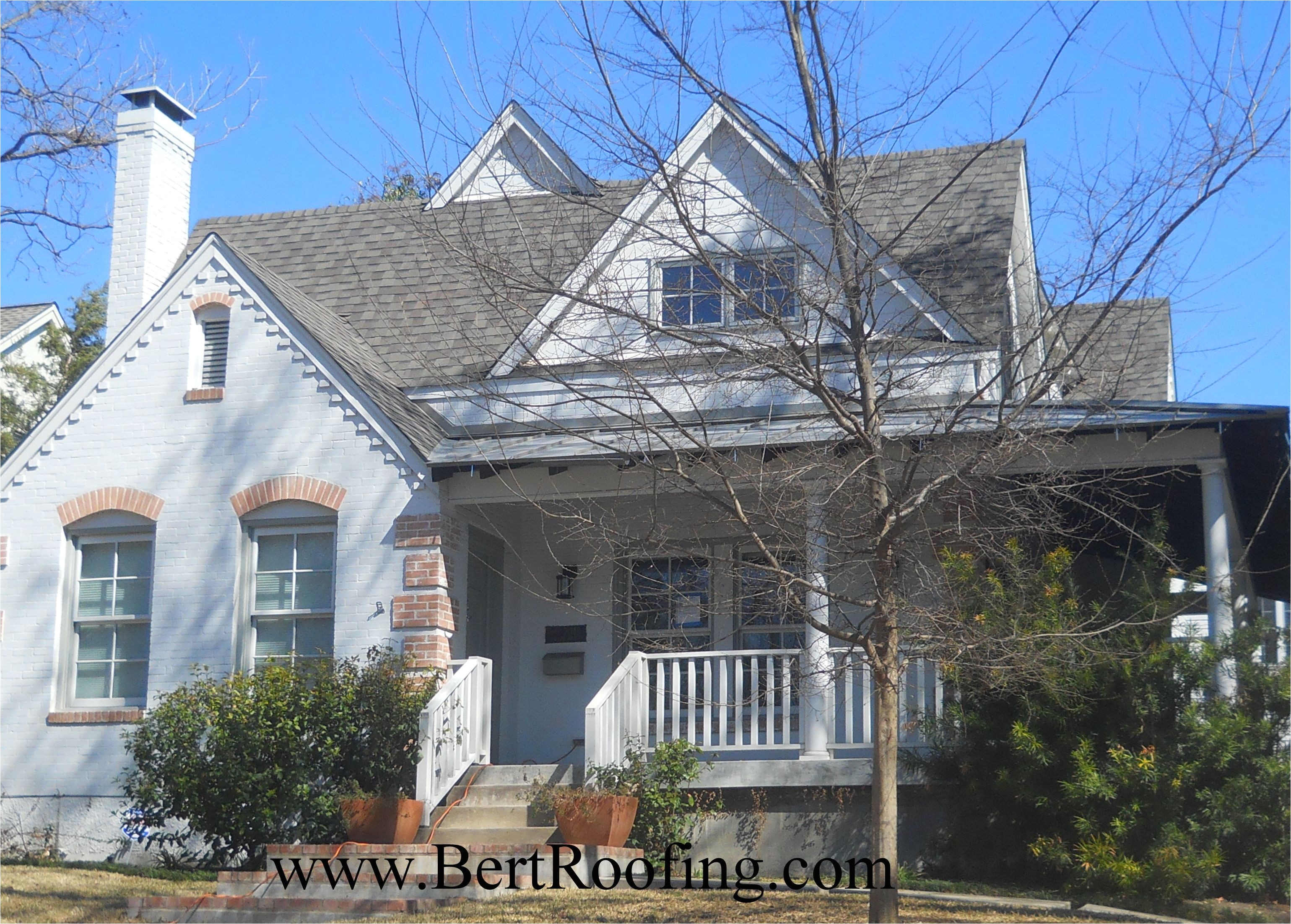 certainteed landmark composition shingle color weathered wood installed by bert roofing inc in dallas on march 2014
