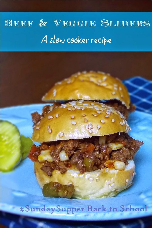slow cooker beef and veggie sliders