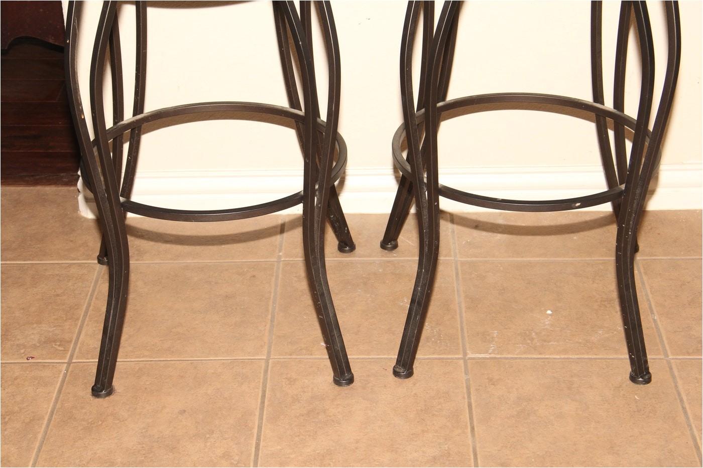 3553154 cheyenne home furnishings pair of wrought iron bar stools
