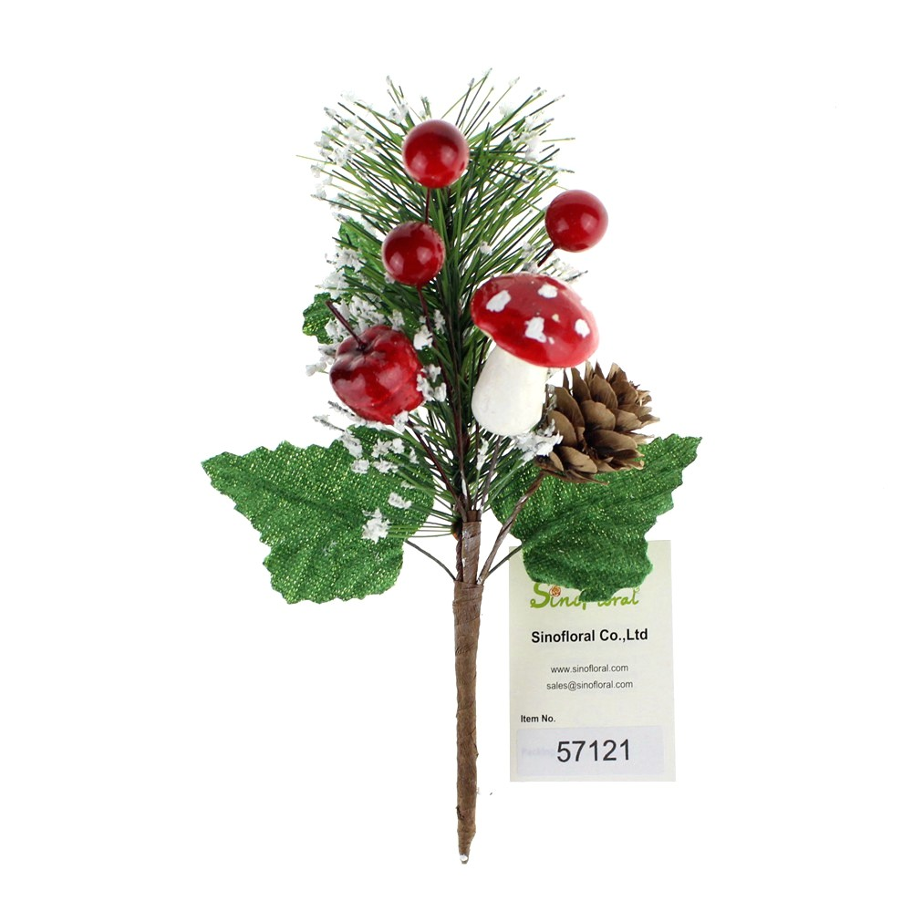 christmas picks with berries wholesale 57121