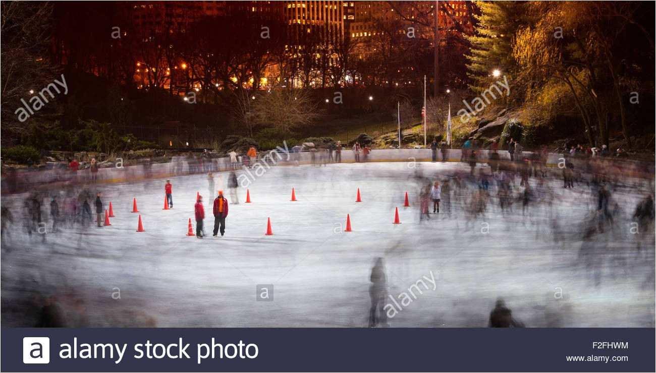 stock photo ice skating at wollman rink central park midtown manhattan new york 87624480