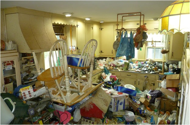 writing is like cleaning hoarder house