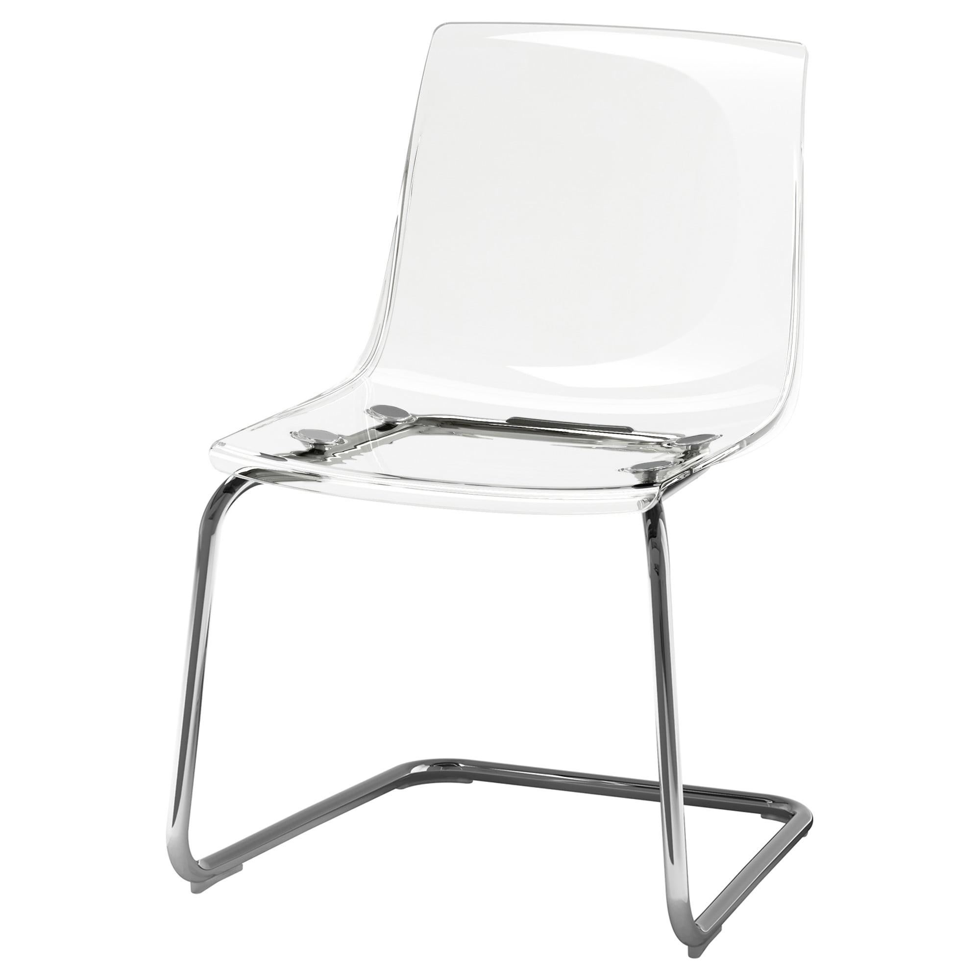 tobias chair transparent chrome plated art 80349671
