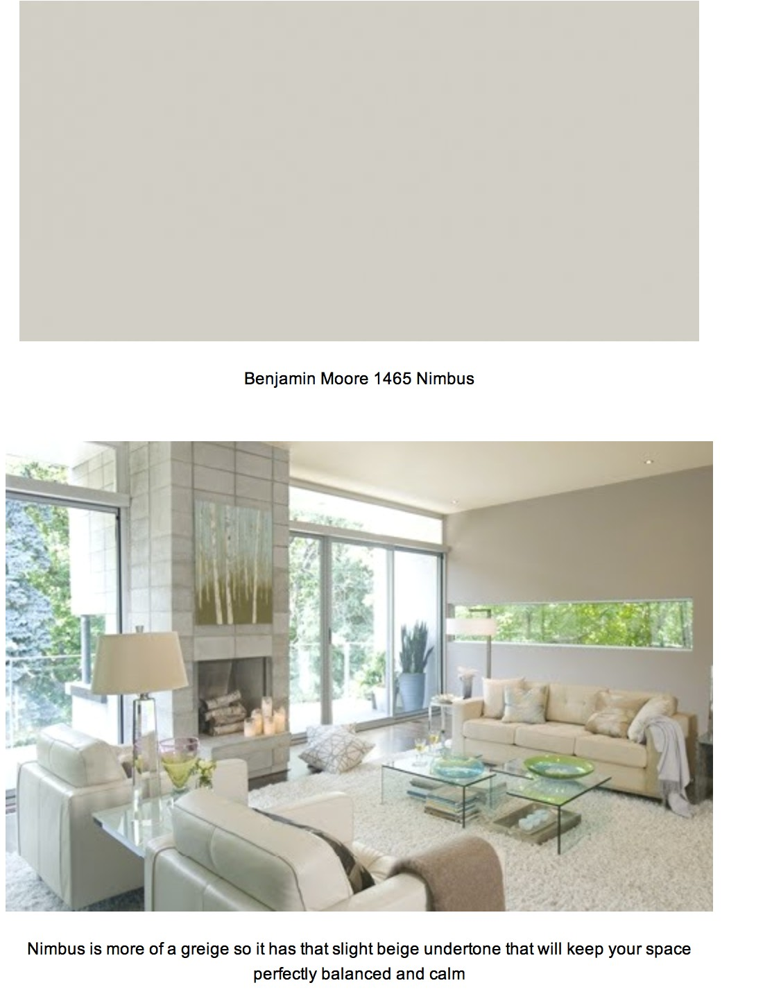 the color we picked for most of the house benjamin moore nimbus