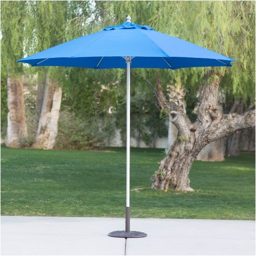 belham living 9 ft sunbrella commercial aluminum wind resistant patio umbrella cfm