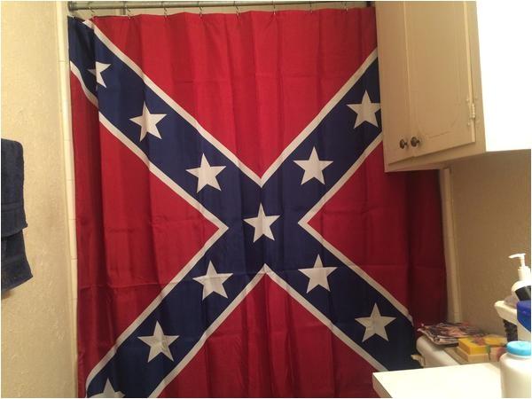 rebel flag shower curtain