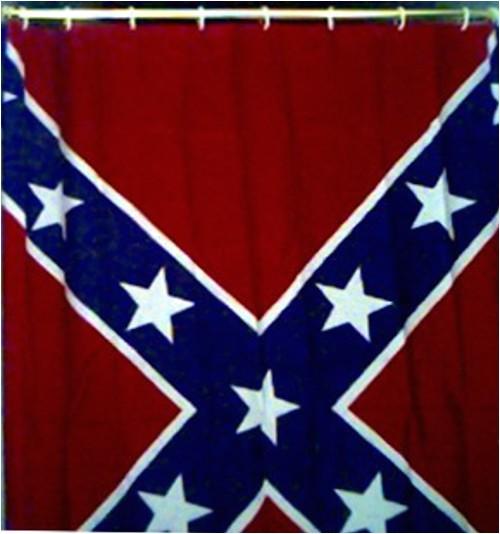 rebel flag shower curtains