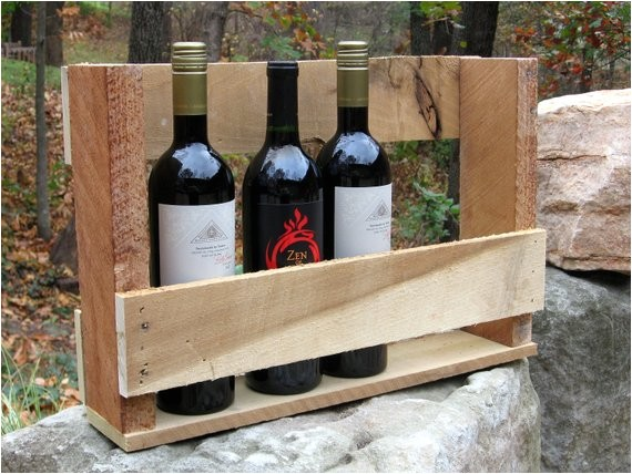 upcycled wine rack from repurposed