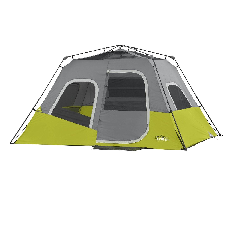 Core 6 Person Instant Cabin Tent Reviews Core 6 Person Instant Cabin Tent 11 39 X 9 39 Campings
