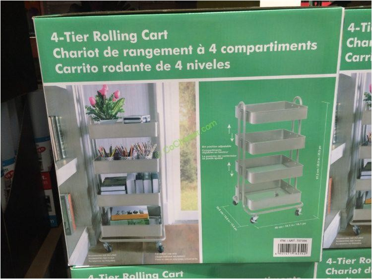 costco 707386 4 tier rolling cart box