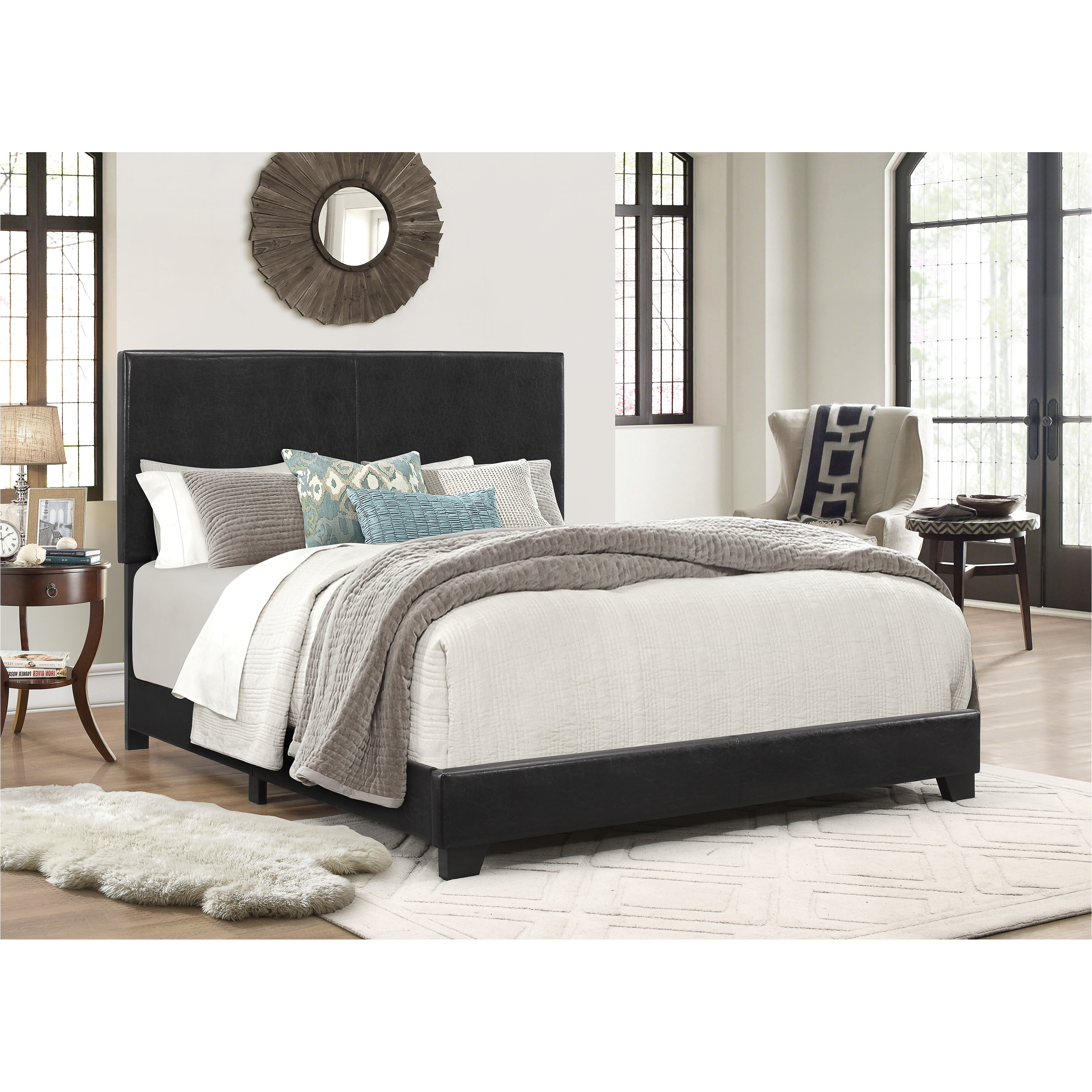 crown mark erin upholstered panel bed lmdw1088