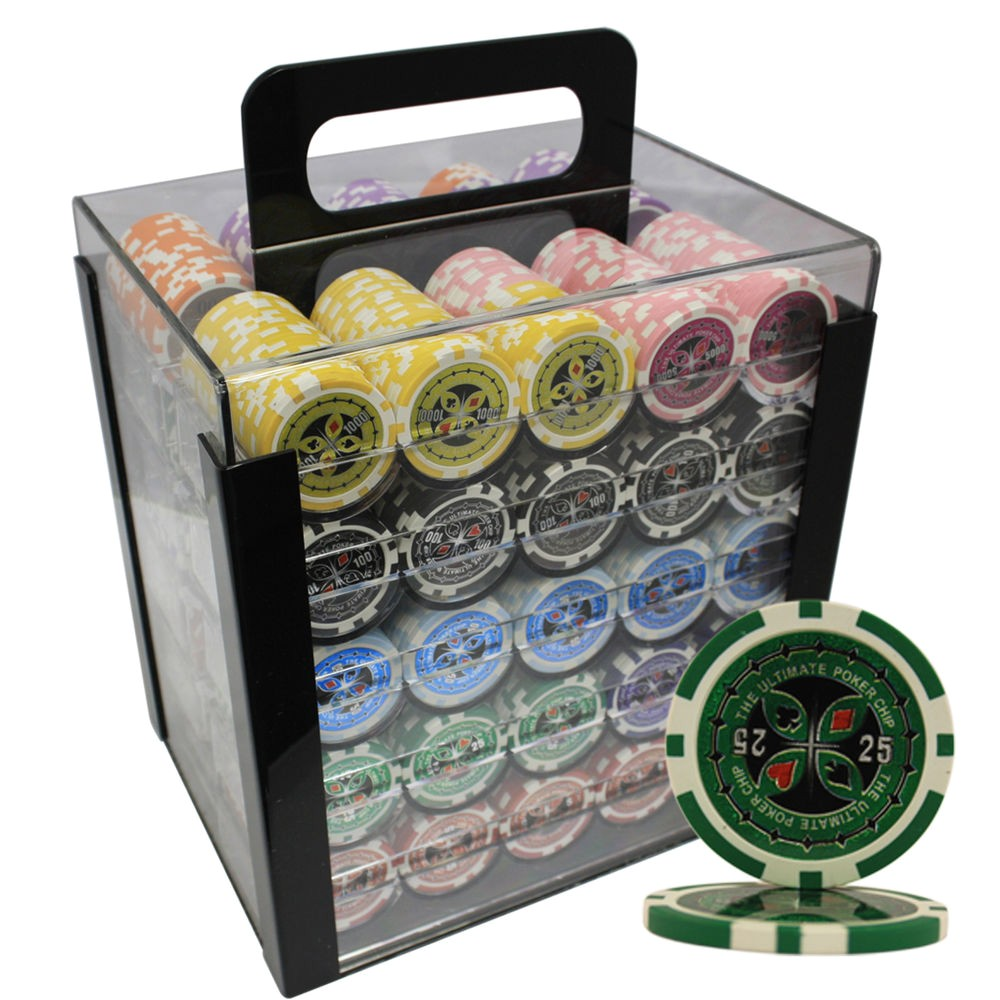 Custom Clay Poker Chip Sets 1000pcs 14g Ultimate Casino Clay Poker Chips Set Custom