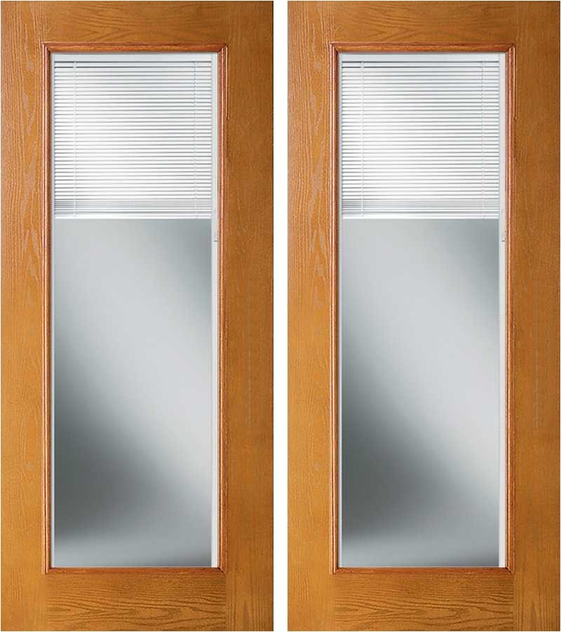 enclosed blinds odl woodgrain fiberglass french double door