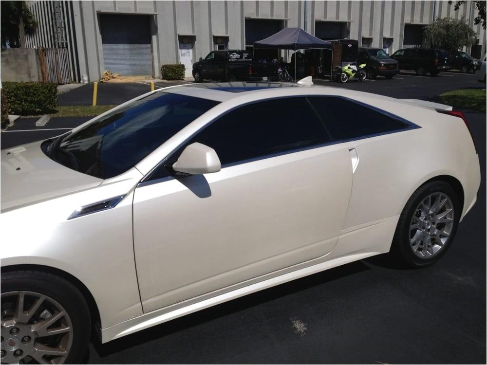 Custom Window Tinting Pompano Beach Fl Cadillac Cts 2 Dr Coupe with Llumar Ctx 30 Ceramatrix A