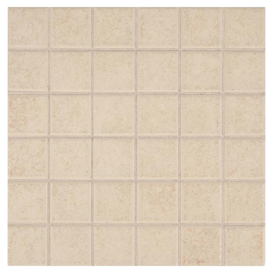 american olean sandy ridge almond ceramic uniform squares mosaic wall tile common 12