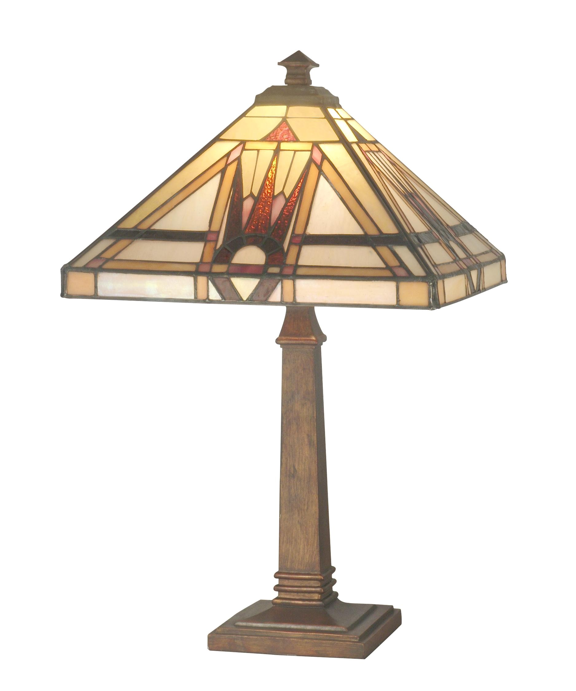 Discontinued Dale Tiffany Table Lamps Dale Tiffany Tt70733 Geo Mission 20 Inch Table Lamp