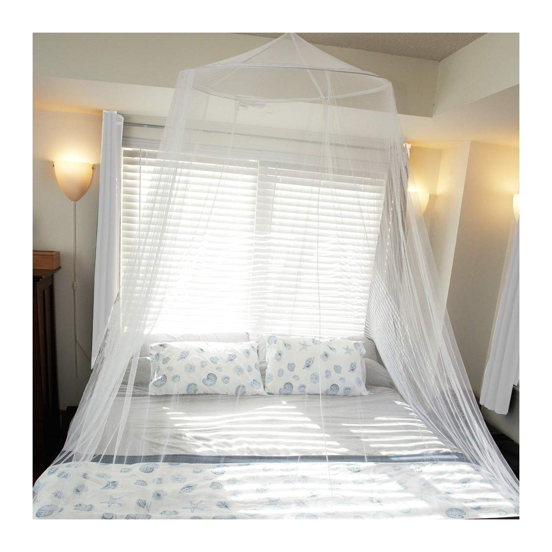amazon com tedderfield premium mosquito net for king and california king size beds conical screen netting spacious canopy extra wide extra long