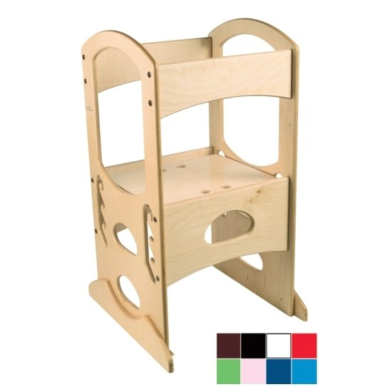 Diy toddler Step Stool with Rails Learning tower Woodworking Plans Awesome Red Learning