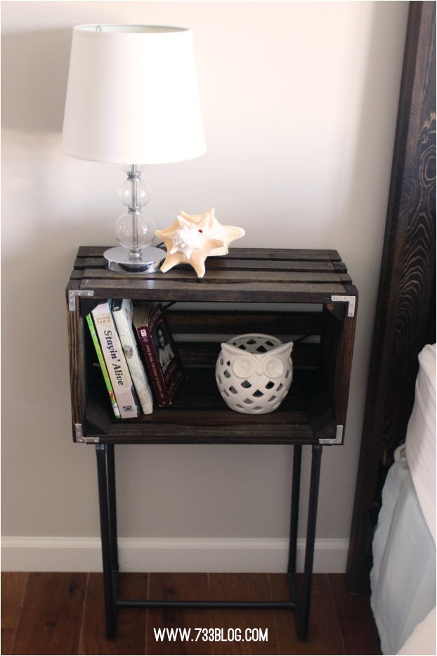 Diy Wood Crate Nightstand Diy Crate Nightstands Inspiration Made Simple