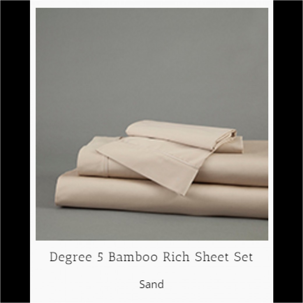 dreamfit degree 5 bamboo first fit sheet