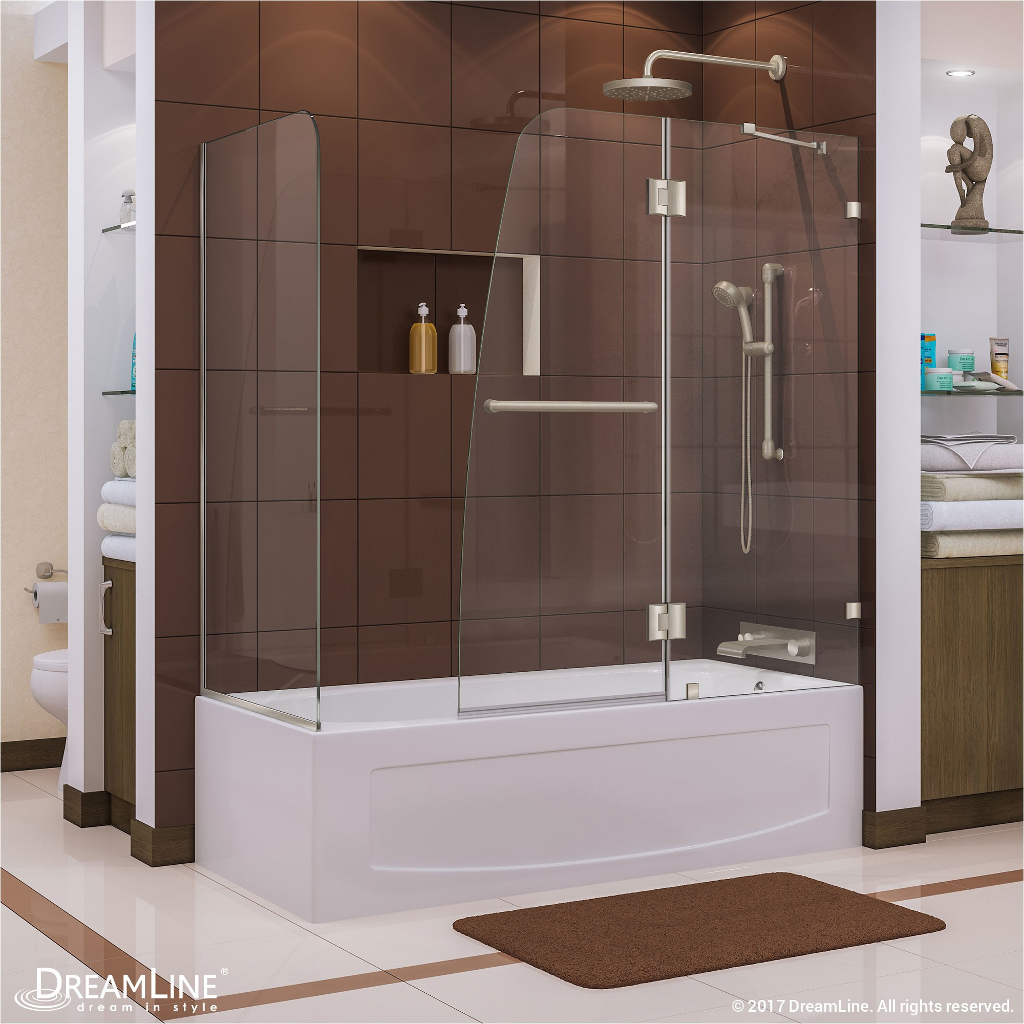 Dreamline Shower Doors Reviews Dreamline Aqua Lux 60 Quot X 58 Quot Hinged Tub Door Reviews