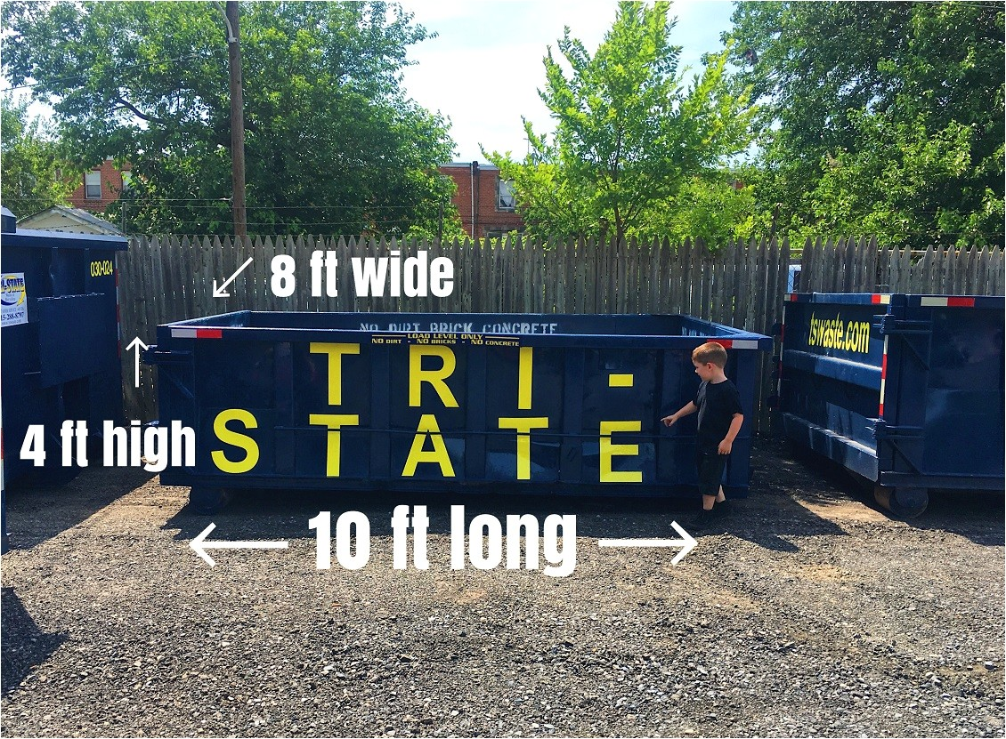 how big is a ten yard dumpster