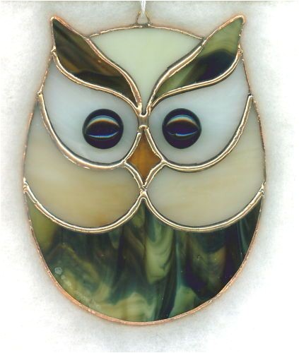 Easy Owl Stained Glass Patterns Stained Glass Owl Suncatcher Owl11 Owl Glass and Mosaics