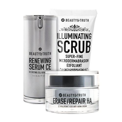beauty truth fresh face bundle erase repair ha renewing serum ce illuminating scrub