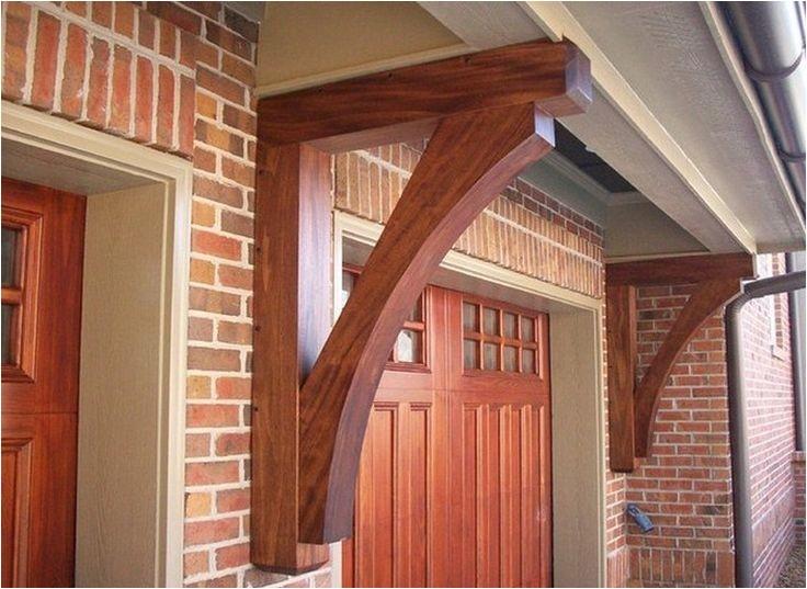 exterior wood bracket installation