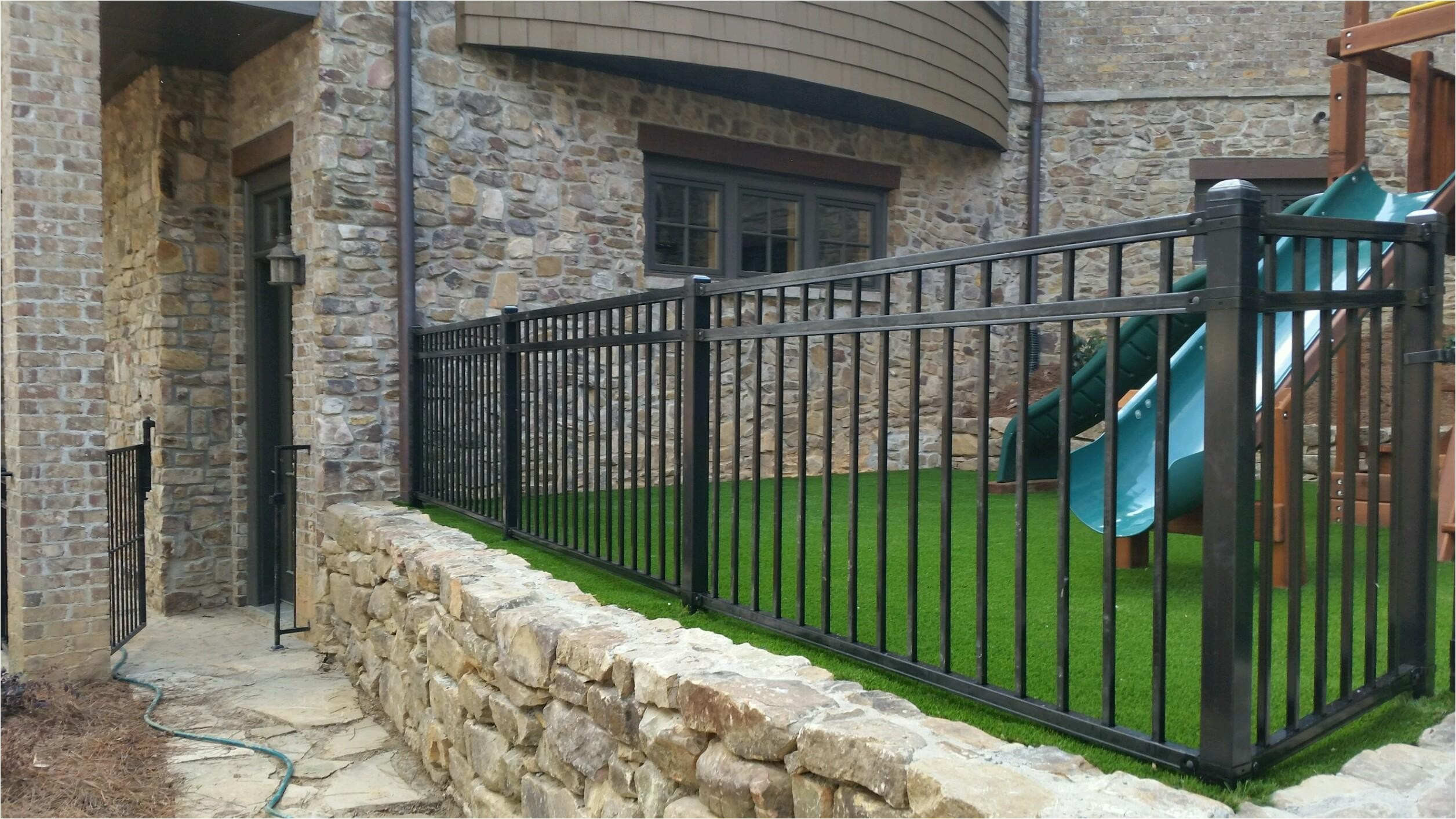 metal fence in lawrenceville buford braselton athens