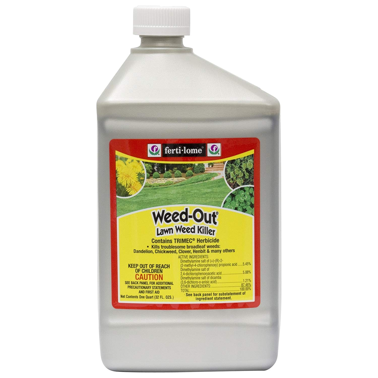 amazon com fertilome weed out lawn weed killer with trimec quart garden outdoor