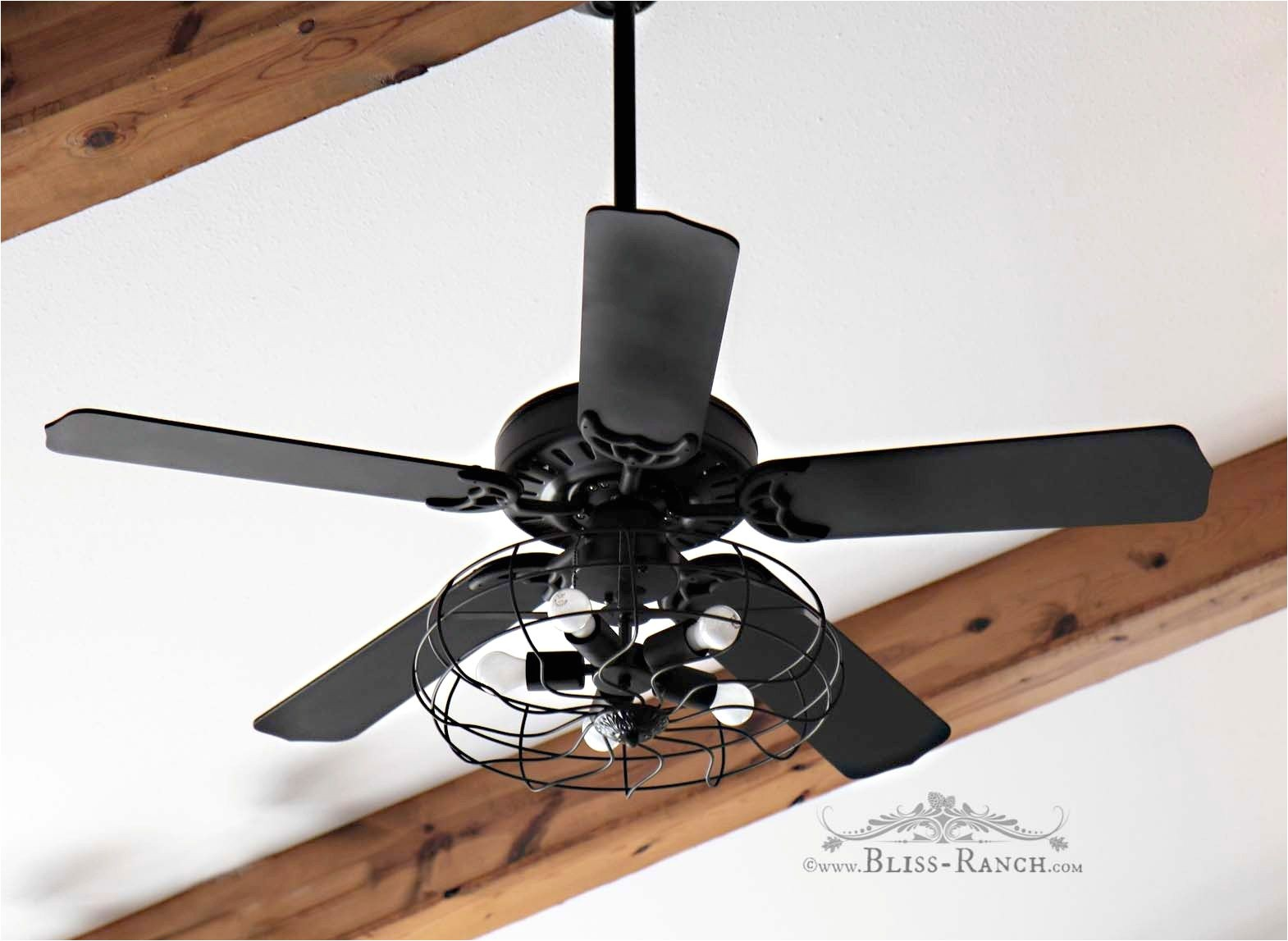 ceiling fan updated with paint lights bliss ranch com